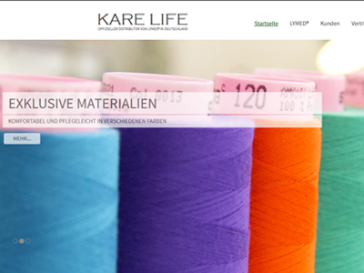 Website Homepage CMS Karelife Dresden