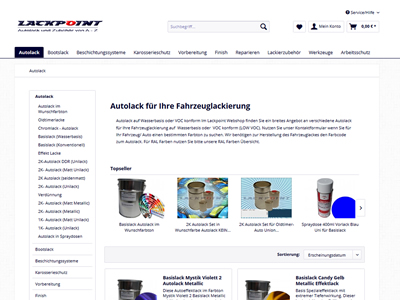 Webshop Onlineshop Lackpoint Dresden